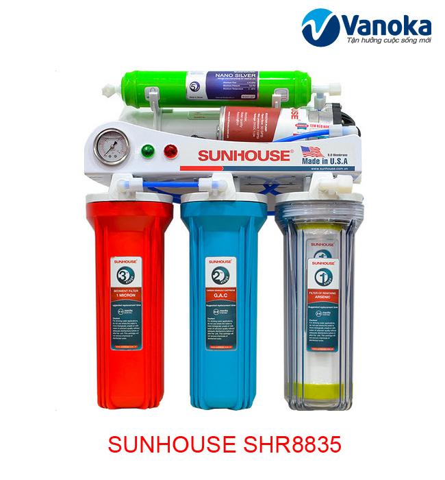 May loc nuoc Sunhouse SHR8835 - May loc nuoc RO 5 loi loc
