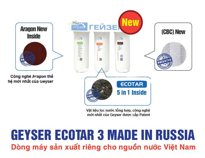 Ưu điểm chỉ có ở máy lọc nước Geyser Ecotar 3