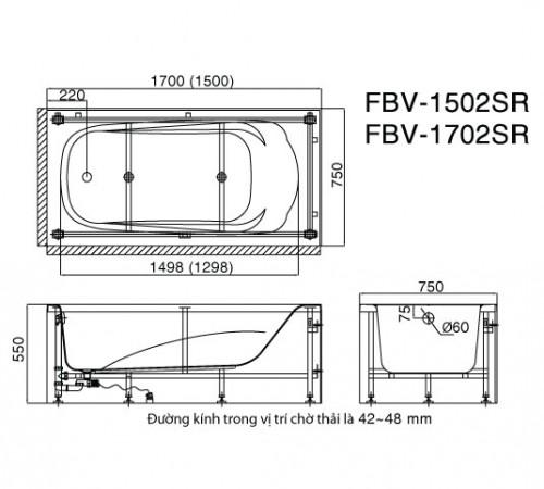 ban ve bon tam yem Inax FBV-1502SR, FBV-1702SR