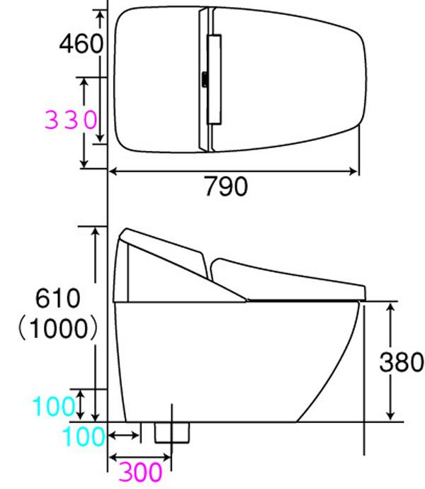 Thông số kỹ thuật Bàn cầu cảm ứng Inax DV-R115VH-VN/BKG