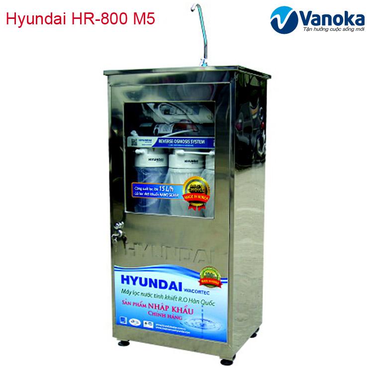 May loc nuoc Hyundai HR-800 M5 tu inox khong nhiem tu