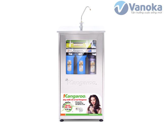 Thông số kỹ thuật Máy lọc nước Kangaroo KG108 (8 lõi lọc) có tủ inox không nhiễm từ