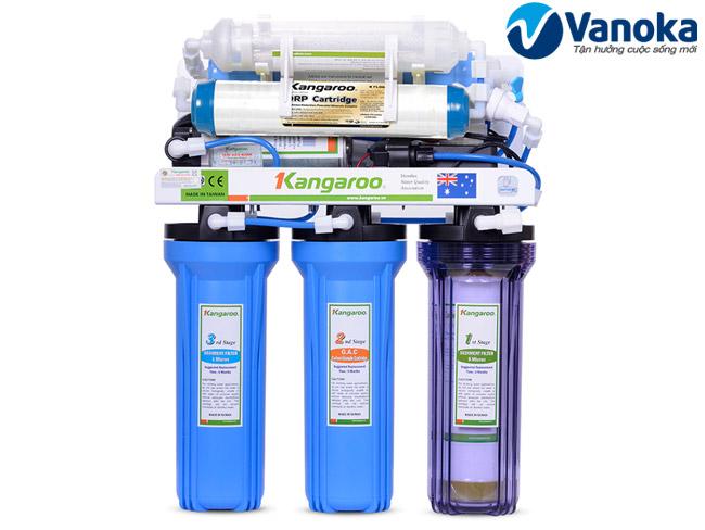 Thông số kỹ thuật Máy lọc nước Kangaroo KG114 7 lõi lọc công suất > 10L/H