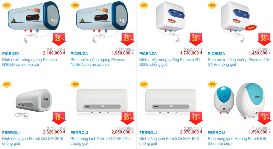 Khuyến mãi giảm giá khi mua bình nước nóng tại Vanoka.vn thumbnail