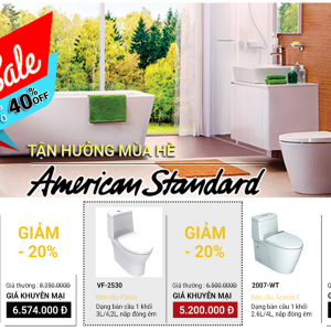 Khuyến mại American Standard lên đến 40% tận hưởng cảm giác mát lạnh ngày hè thumbnail