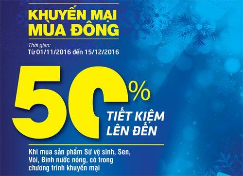 Khuyến mãi lớn: thiết bị vệ sinh Inax, Toto, Cotto giảm giá lên đến 50% thumbnail