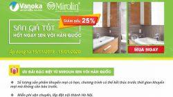 Khuyến mãi sen vòi Mirolin lên đến 25% tại Vanoka thumbnail