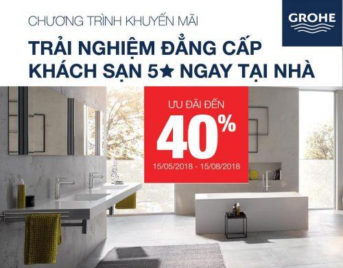 Chào hè 2018: Thiết bị phòng tắm Grohe giảm giá lên đến 40% thumbnail