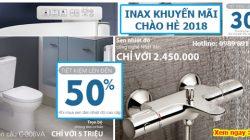 Chào hè 2018: Inax khuyến mại thiết bị phòng tắm lến đến 50% thumbnail