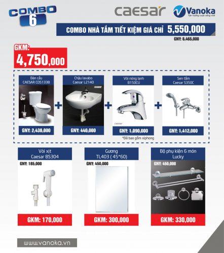 Combo Caesar 4: Combo nhà tắm tiện nghi giá chỉ 6.35 triệu thumbnail
