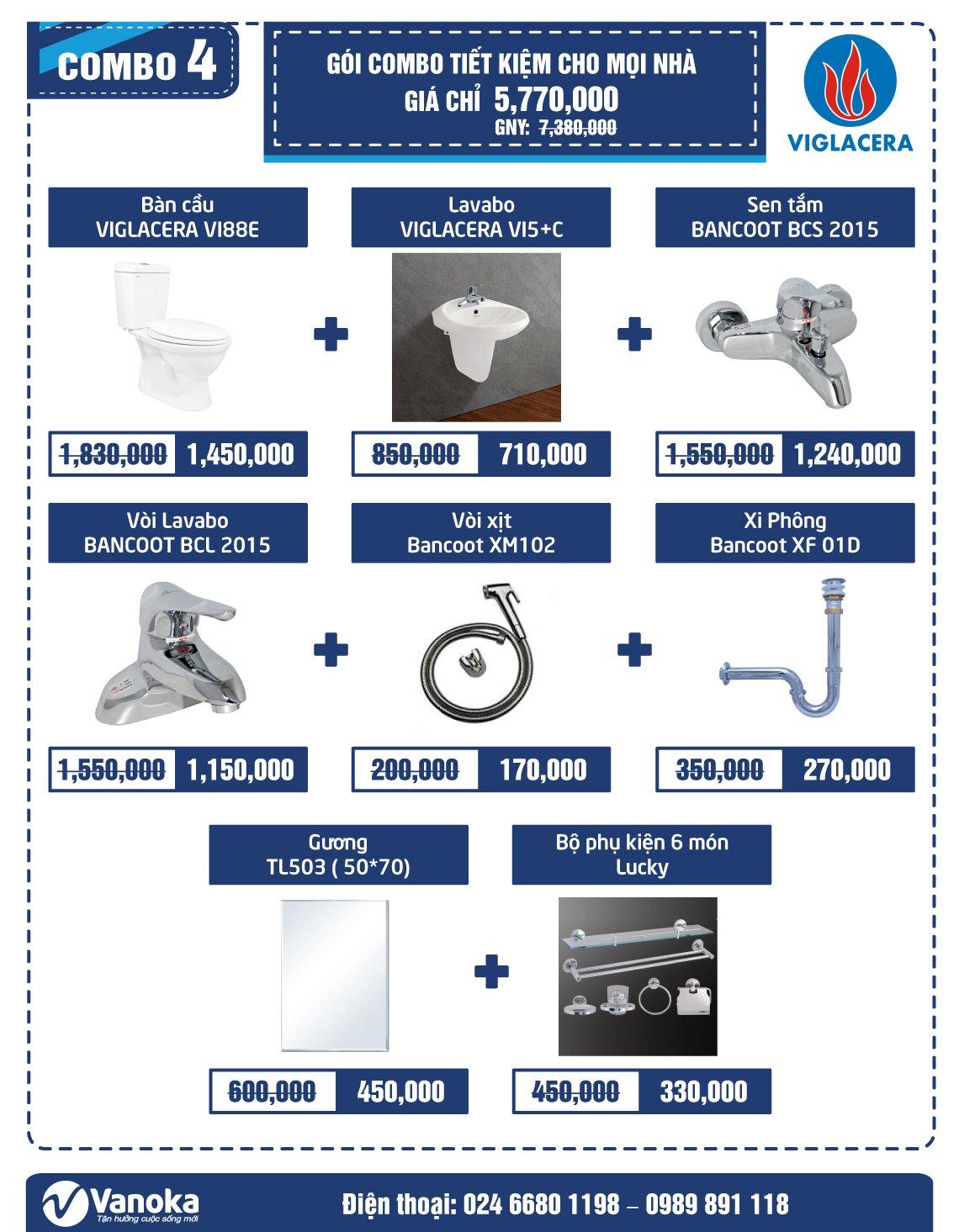 Combo Viglacera 4: Gói Combo tiết kiệm cho mọi nhà giá chỉ 5.77 triệu thumbnail