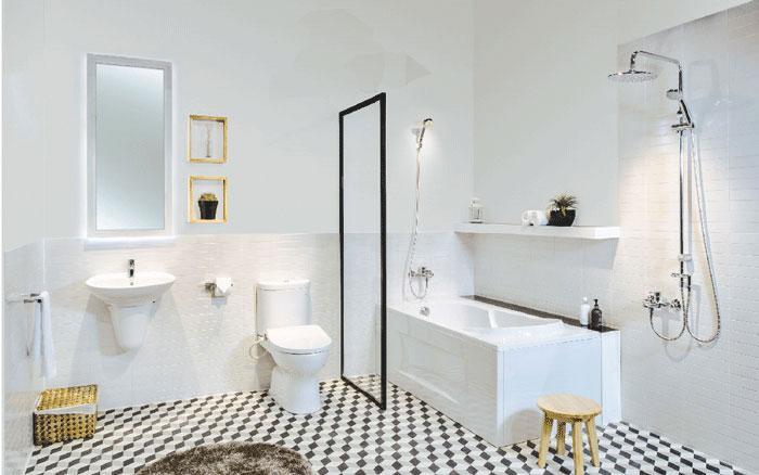 Mua sen vòi ở đâu - Phòng tắm với thiết bị vệ sinh chất lượng sang trọng