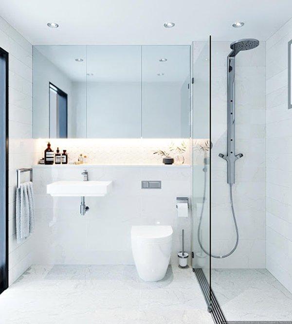 Phòng tắm với thiết kế tối giản