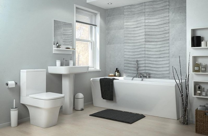 Nhà tắm được trang trí bằng phụ kiện sang trọng