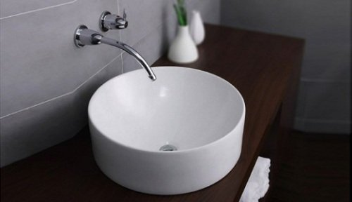 Chậu rửa mặt tròn được bán tại siêu thị thiết bị vệ sinh Vanoka.vn