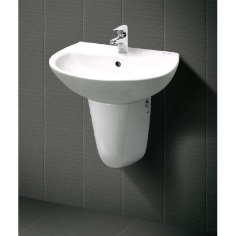 Kích thước lavabo inax treo tường