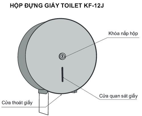 Bản vẽ hộp đựng giấy Toilet Inax KF-12J