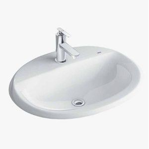 Chậu rửa Lavabo dương vành Inax AL-2395V (EC/FC)