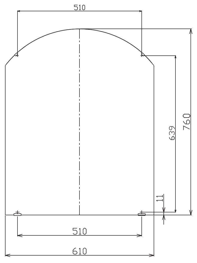 Kích thước gương tráng bạc Inax KF-6075VAR
