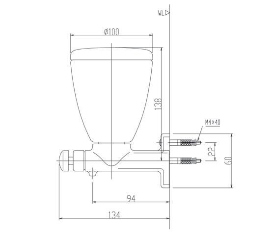Kích thước hộp xà phòng nước cao cấp Inax KFV-24(AY)