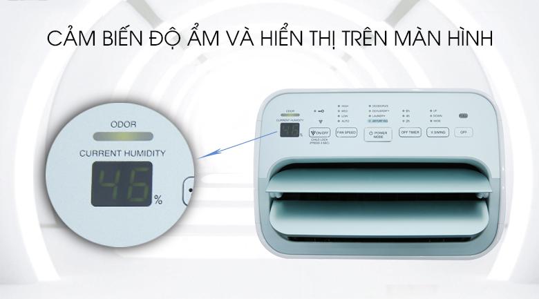 Bảng điều khiển máy tạo Ion lọc khí và hút ẩm Sharp DW-E16FA-W