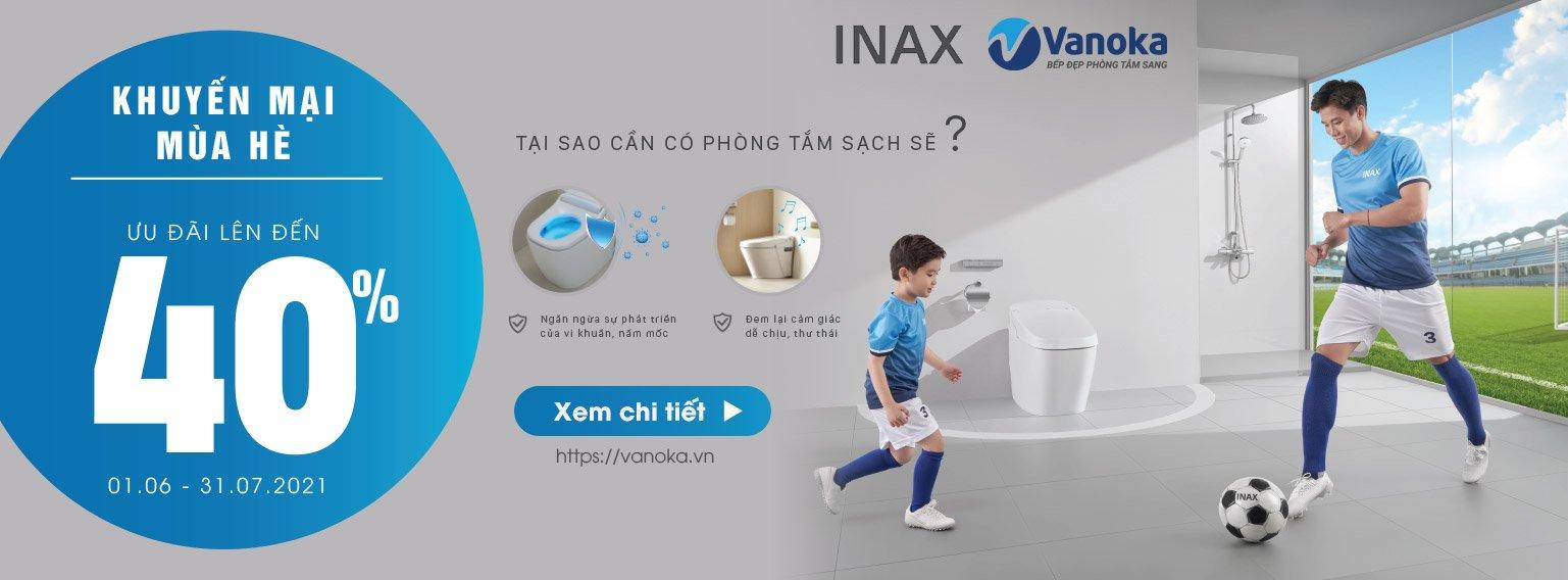 Khuyến mại hè 2021 thiết bị phòng tắm Inax