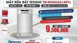 Khuyến mại máy rửa bát Texgio và Eurosun xịn xò tại Vanoka thumbnail