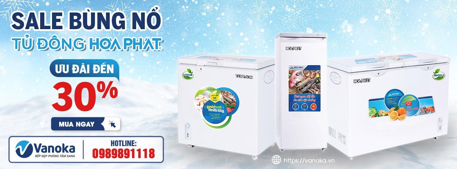 Sale bùng nổ tủ đông Hòa Phát