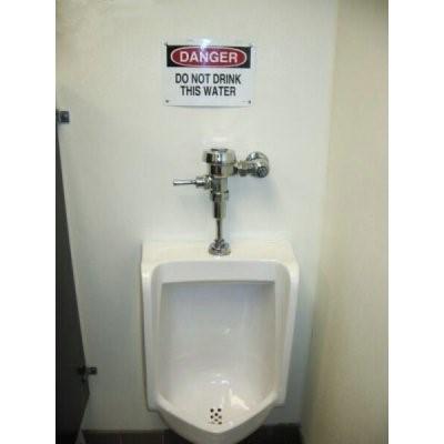 Do not drink toilet water!