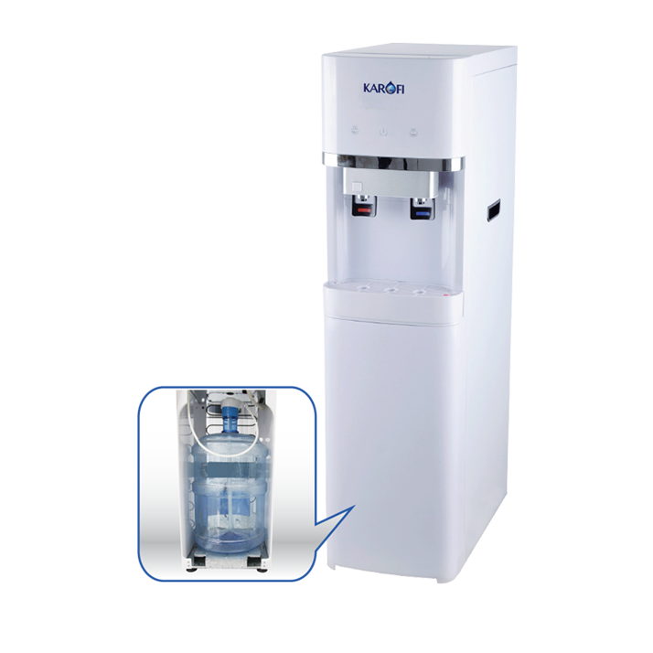 Thông số kỹ thuật Cây nước nóng lạnh hút bình Karofi HC300-W chính hãng