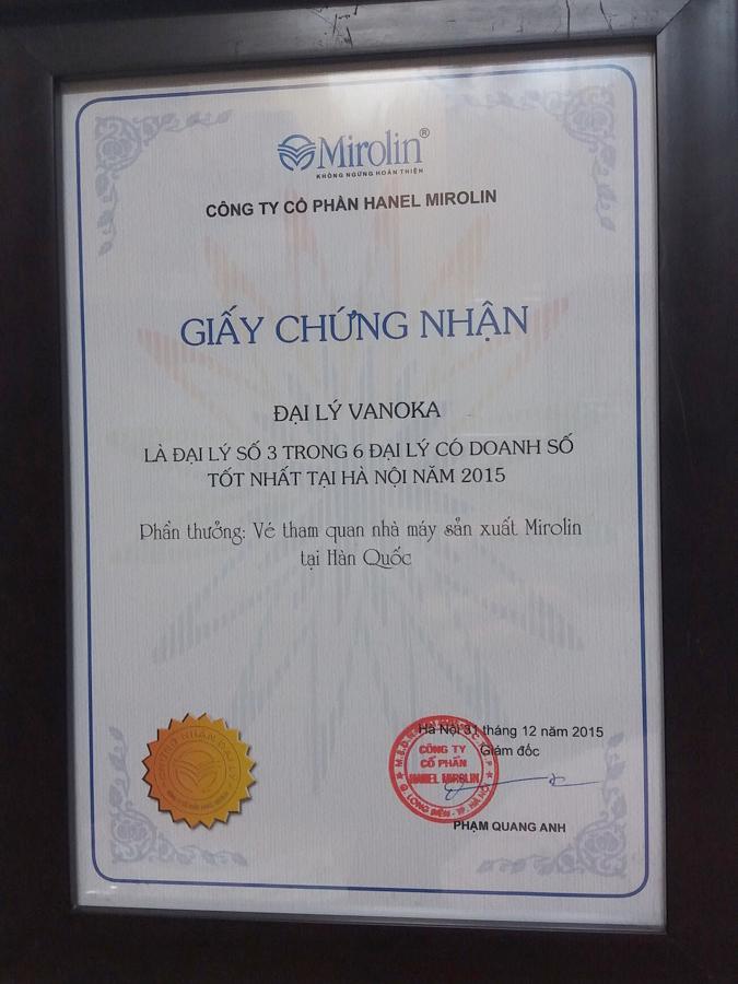 Phần thưởng năm 2015: Vé tham quan nhà máy sản xuất Mirolin tại Hàn Quốc