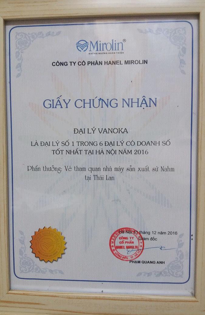 Phần thưởng năm 2016: Vé tham quan nhà máy sản xuất sứ Nahm tại Thái Lan