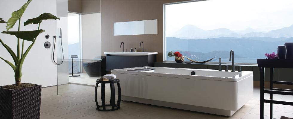 Mẫu thiết kế phòng tắm cho bồn cầu Regio
