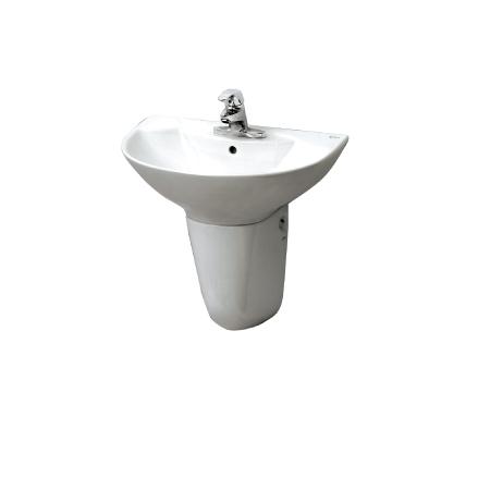 Chậu lavabo chân lửng Inax L-288V + L-288VC