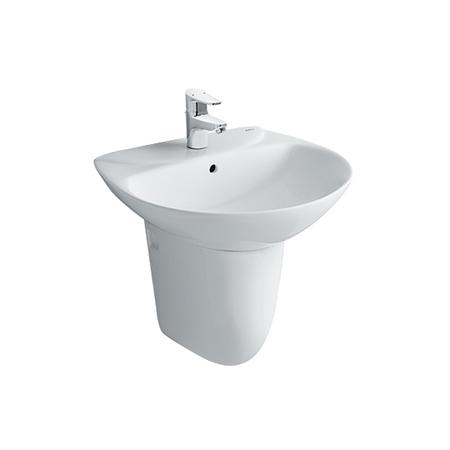 Chậu lavabo chân lửng inax L-285V