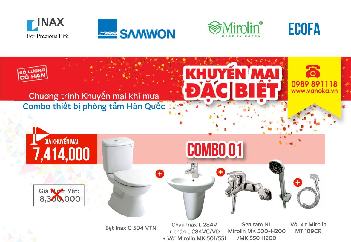 Chương trình khuyến mại Giảm giá Combo INAX, Samwon, Mirolin và Eco thumbnail