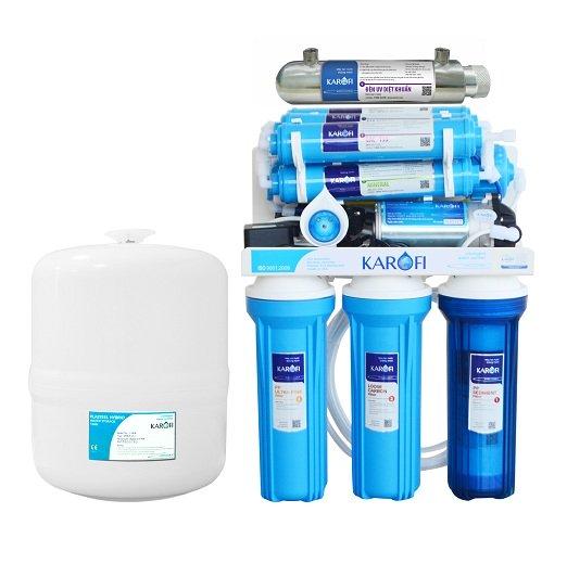 Thông số kỹ thuật Máy lọc nước tiêu chuẩn sRO Karofi KSI90 9 cấp lọc