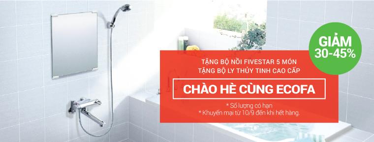 Cơ hội mua sen vòi Ecofa khuyến mãi giảm giá tới 45% thumbnail