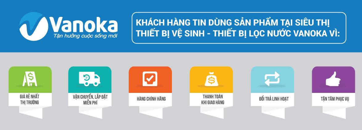 VANOKA - Siêu thị thiết bị vệ sinh số 1 Việt Nam