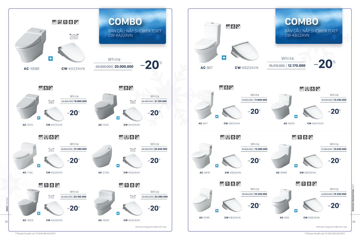 INAX: Khuyến mại đặc biệt mùa đông lên tới 50