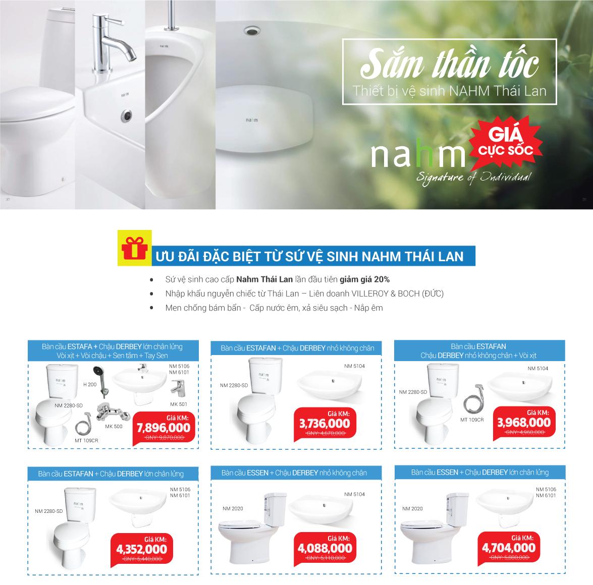 Khuyến mãi sứ vệ sinh Nahm lần đầu tiên giảm giá lên tới 20% thumbnail