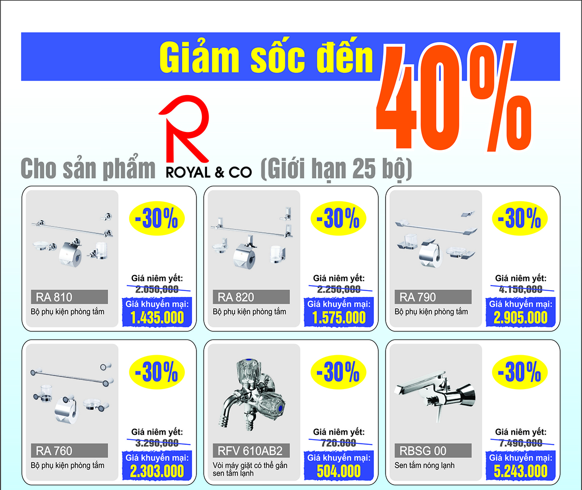 Khuyến mại mùa hè Mirolin - Royal & Co - Nahm lên đến 40%