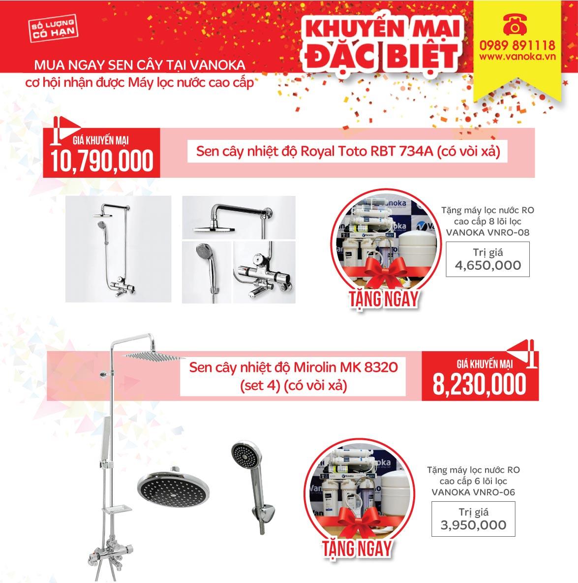Vanoka – Chương trình thanh lý sản phẩm thiết bị phòng tắm lên đến 50% thumbnail