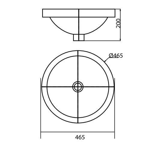 Thông số kỹ thuật Chậu rửa Lavabo đặt trên bàn Viglacera CD6