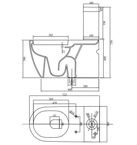 Thông số kỹ thuật Chậu rửa lavabo treo tường Viglacera VI51