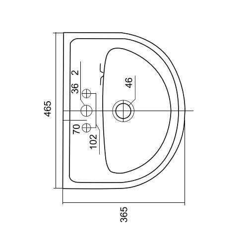 Thông số kỹ thuật Chậu rửa lavabo treo tường Viglacera VTL3N