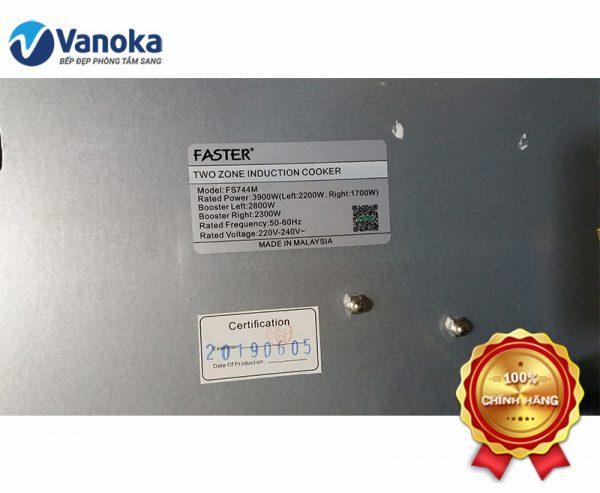 Thông tin Model: FS744M được sản xuất Made in Malaysia