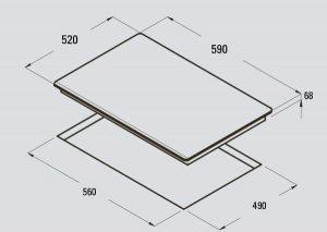 Bảng vẽ kỹ thuật bếp từ CATA I 604B