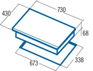 Bảng vẽ kỹ thuật bếp từ CATA IB 1822BK