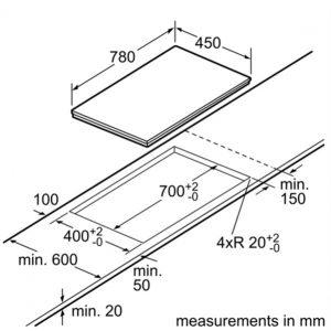 Bản vẽ kĩ thuật bếp từ BOSCH PPI82560MS